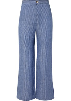 Mara Hoffman Arlene Striped Organic Linen-twill Flared Pants