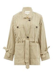 Mara Hoffman Arlo single-breasted drawstring striped jacket