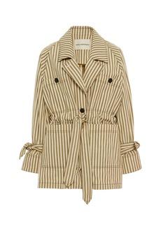 Mara Hoffman Arlo Tie-Front Striped Twill Jacket