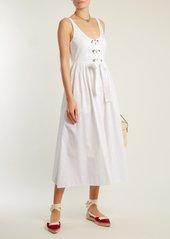 Mara Hoffman Athena lace-up cotton dress