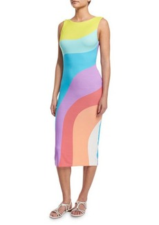 Mara Hoffman Auralight Colorblock Coverup Midi Dress