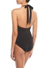 Mara Hoffman Aya Halter One-Piece Swimsuit