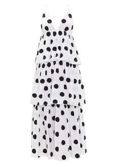 Mara Hoffman Bari tiered polka-dot cotton-voile dress