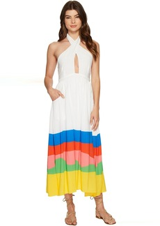 Mara Hoffman Beach Ball Halter Midi Dress