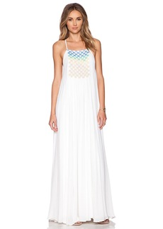 Mara Hoffman Beaded Trapeze Maxi Dress