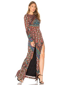 Mara Hoffman Bolnisi Rug Open Back Maxi Dress