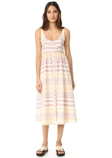 Mara Hoffman Button Front Midi Dress