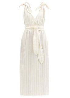 Mara Hoffman Calypso striped linen-blend dress