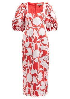 Mara Hoffman Celia floral cotton and linen-blend dress