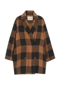 Mara Hoffman Clem Woven-Cotton Plaid Coat