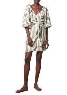 Mara Hoffman Coletta Stripe Cover-Up Wrap Dress