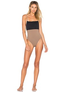 Mara Hoffman Combo One Piece in Brown. - size S (also in L,M,XL, XS)