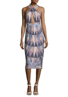Mara Hoffman Compass Cross Front Halter Dress