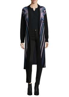 Mara Hoffman Compass Knit Open Front Long Cardigan