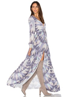 Mara Hoffman Compass Long Sleeve Maxi Dress