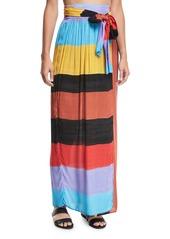 Mara Hoffman Cora Colorblocked Convertible Coverup Maxi Skirt/Dress