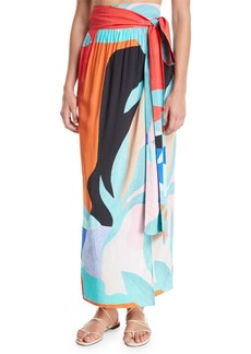 Mara Hoffman Plus Size Cora Convertible Coverup Wrap Maxi Skirt/Dress