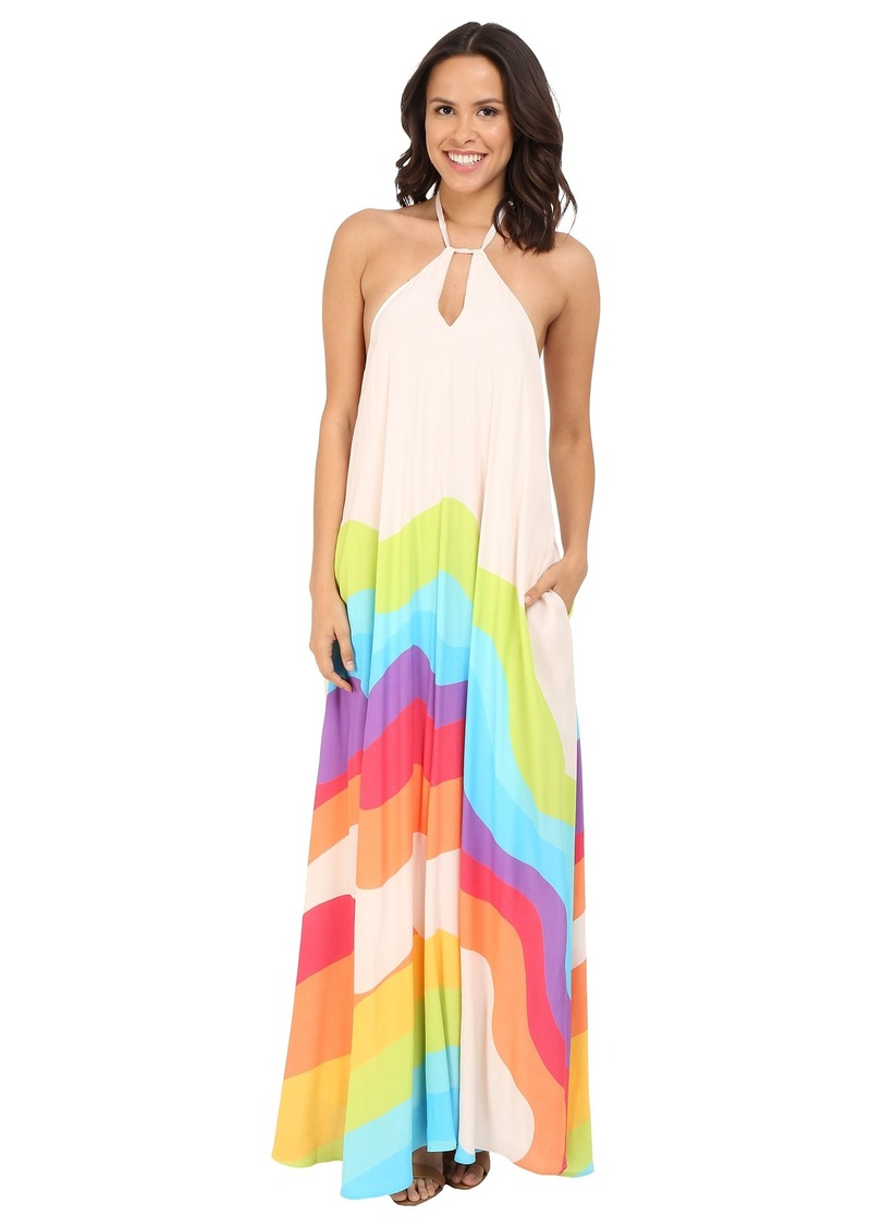 Mara Hoffman Crepe Key Hole Midi Dress