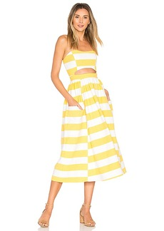 Mara Hoffman Cut Out Midi Dress in Yellow. - size 0 (also in 4,6)