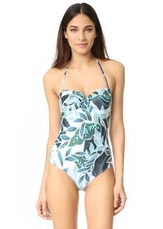 Mara Hoffman Cutout Back Bustier Swimsuit