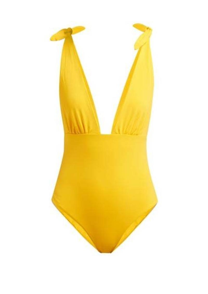 Mara Hoffman Daphne deep V-neck swimsuit