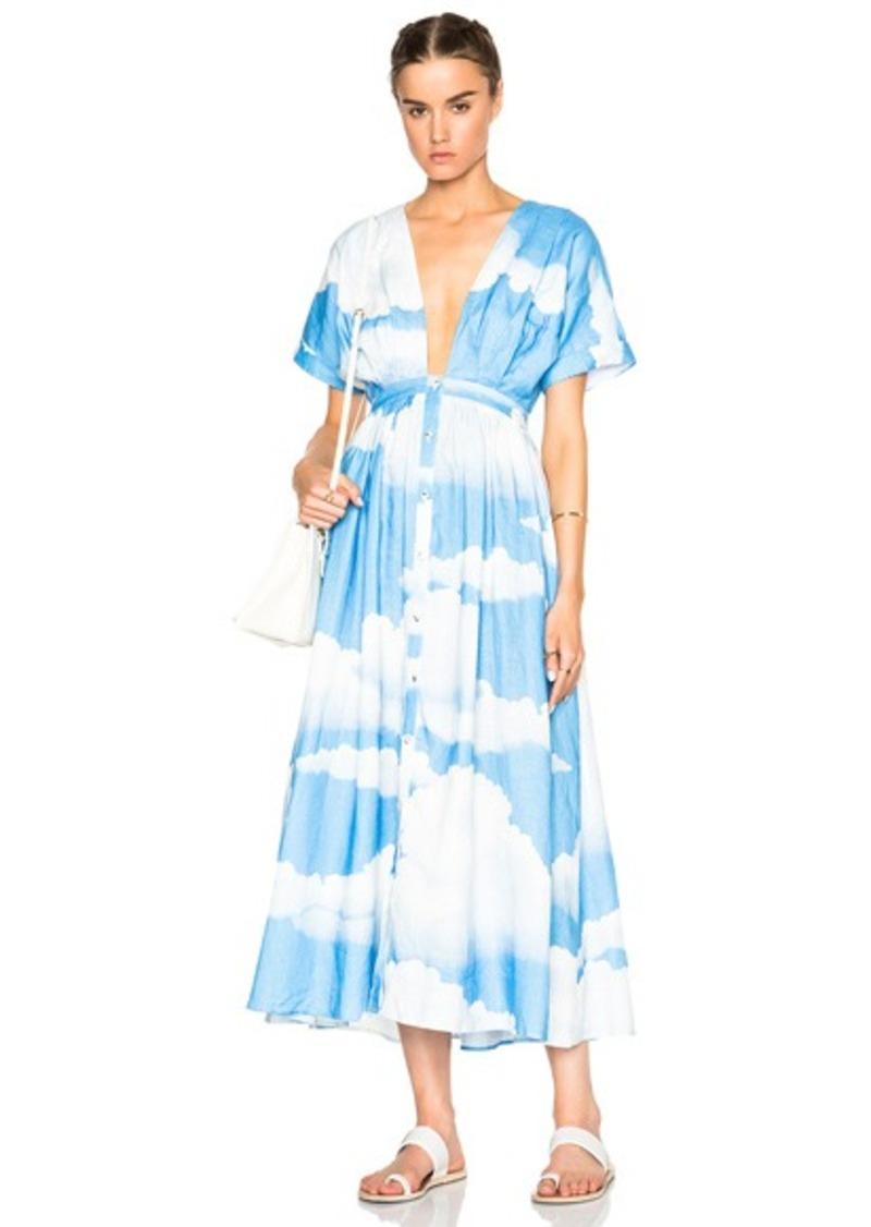 Mara Hoffman Deep V-Neck Kimono Dress