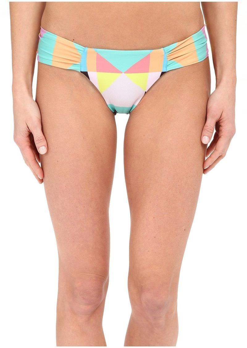 Mara Hoffman Diamond Side Ruched Bikini Bottom