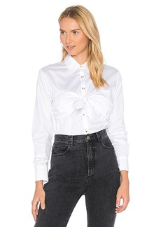 Mara Hoffman Elaine Button Down Top in White. - size L (also in S,XS,M)