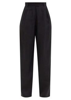 Mara Hoffman Eldora high-rise hemp-twill tailored trousers