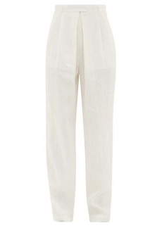 Mara Hoffman Eldora high-rise hemp wide-leg trousers