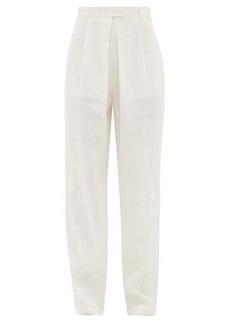 Mara Hoffman Eldora high-rise hemp wide-leg trousers