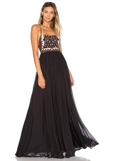 Mara Hoffman Embellished Silk Maxi Dress