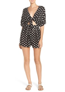 Mara Hoffman Embroidered Cover-Up Romper