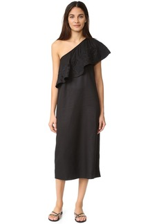 Mara Hoffman Embroidered One Shoulder Dress