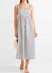 Mara Hoffman Embroidered organic cotton midi dress