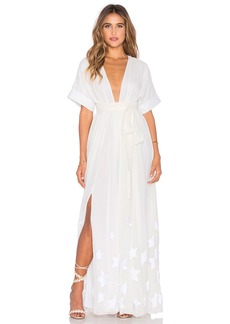 Mara Hoffman Embroidered Slit Maxi Dress