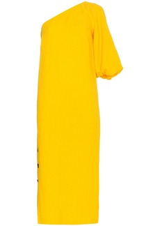 Mara Hoffman Emile one-shoulder cotton linen-blend dress - Yellow &