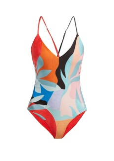 Mara Hoffman Emma tropical-print swimsuit