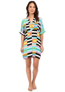 Mara Hoffman Flag Stripe Shirtdress