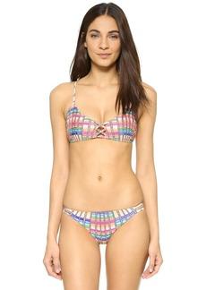Mara Hoffman Flight Sand Lace Front Bikini Top