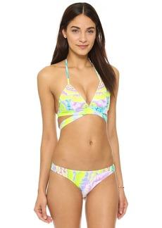 Mara Hoffman Flora White Wraparound Bikini Tip