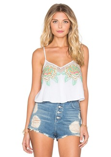Mara Hoffman Floral Embroidered Crop Top