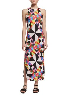 Mara Hoffman Fractals Printed Midi Coverup Dress