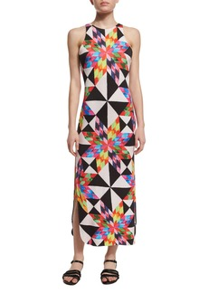 Mara Hoffman Fractals Printed Midi Coverup Dress