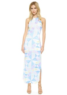 Mara Hoffman Fractals Turquoise Column Dress