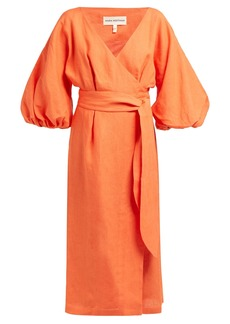 Mara Hoffman Francesca wrap hemp midi dress