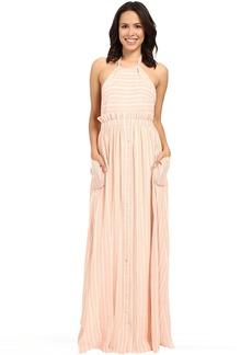 Mara Hoffman Gauze Halter Dress with Pockets
