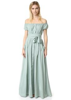 Mara Hoffman Gauze Off Shoulder Dress