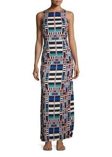 Mara Hoffman Geometric-Print Column Maxi Dress