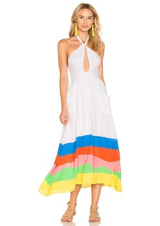 Mara Hoffman Halter Midi Dress in White. - size L (also in S,XS)